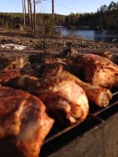 bild-grillad kyckling i påsk