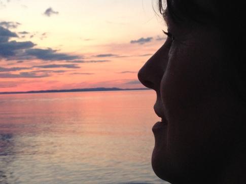 profil vacker kväll storsjön