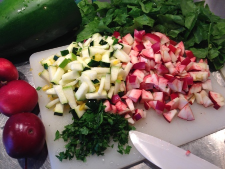 ciderkyckling frukt och grönt