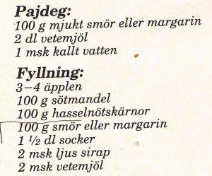 recept_eftrrätt_knäckig äppelkaka ingrediens