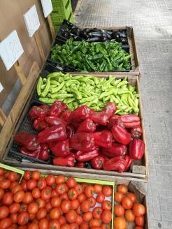 tomat paprikor, aubergin